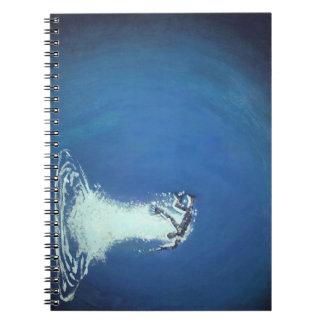 Drowning Man By John Fermin Spiral Notebook