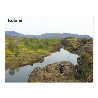 Drowning Pool, Þingvellir National Park, Iceland Postcard