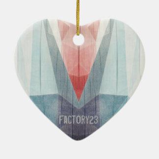 Drowning Tulip Ceramic Heart Decoration