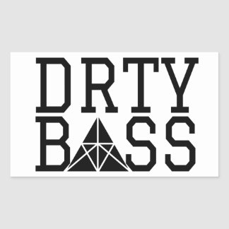 Drty Bass Pyramid Rectangular Sticker