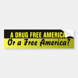 Drug Free America Bumper Sticker