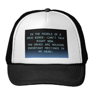 DRUG MEETING MESH HAT