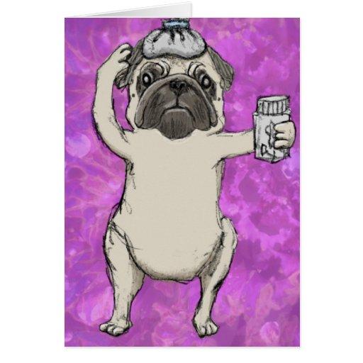 Drug Pug Greeting Cards