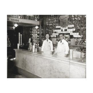 Drug Store Soda Fountain 1921 Gallery Wrap Canvas