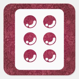 Drug Tablets Minimal Square Sticker