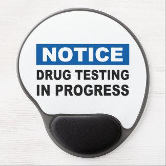 Drug Testing in Progress Gel Mouse Pad