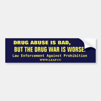 DRUG WAR, LEGALIZE BUMPER STICKER