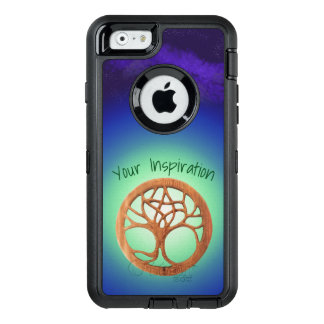 Druid Tree Under a Night Sky Customizable Text OtterBox Defender iPhone Case