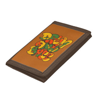 drum and bass reggae color - logo, graffiti, sign tri-fold wallet