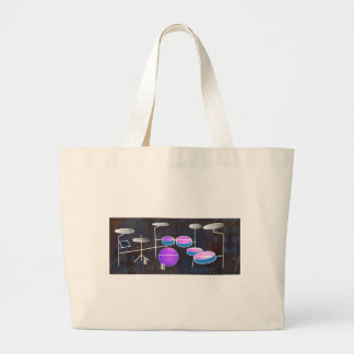 Drum Beat Large Tote Bag