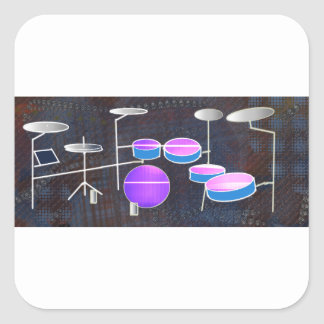 Drum Beat Square Sticker