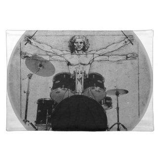 drum copy placemat