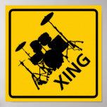 Drum Crossing Highway Sign Print