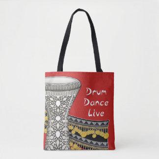 Drum, Dance, Live Tote Bag