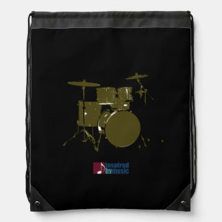 drum inspired by music drawstring bag