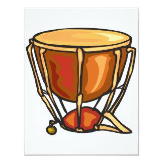 "Drum Invitations 4.25"" X 5.5"" Invitation Card"