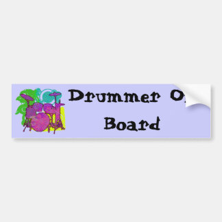 drum kit bumper sticker