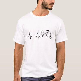 Drum Kit Heartbeat | My Heart Beats for Music | T-Shirt