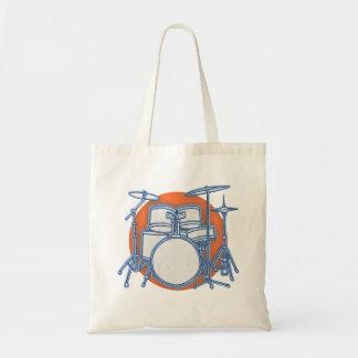 Drum Kit Offset Tote Bag