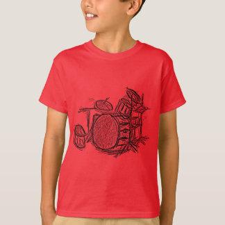 Drum kit rock band grunge T-Shirt