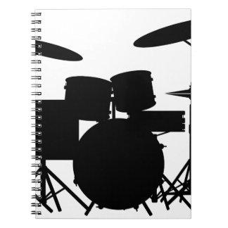 Drum Kit Spiral Notebook