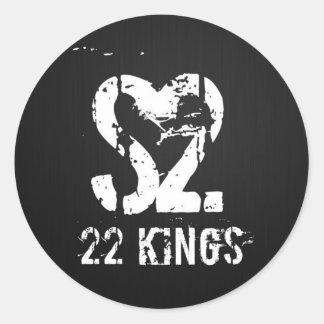 Drum Logo Round Sticker