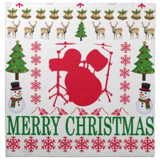 DRUM MERRY CHRISTMAS . NAPKIN