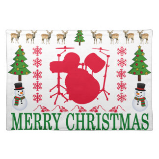 DRUM MERRY CHRISTMAS . PLACEMAT