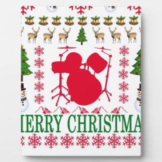 DRUM MERRY CHRISTMAS . PLAQUE