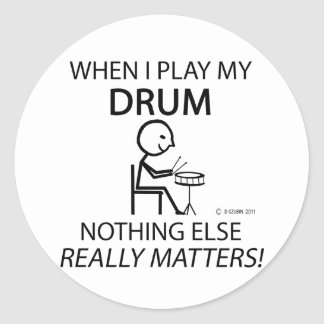 Drum Nothing Else Matters Stickers