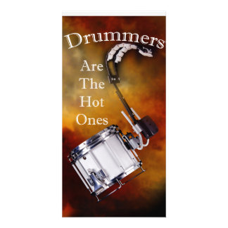 Drum Percussion Card or Invitation You add Text Customised Photo Card
