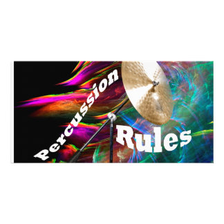 Drum Percussion Card or Invitation YOUR TEXT Customized Photo Card