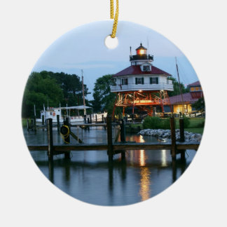 Drum Point Lighthouse Ceramic Ornament