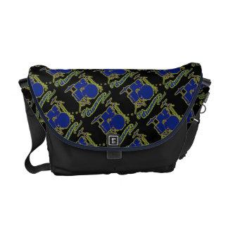 drum rocker pattern commuter bag
