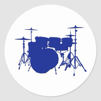 Drum Set Classic Round Sticker