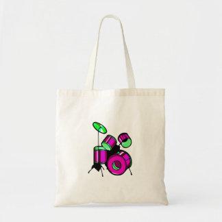 Drum Set Graphic Purple  image design Tote Bag