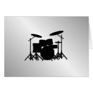 Drum Set Music Design Card