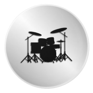 Drum Set Music Design Ceramic Knob