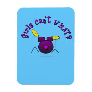 Drum Set - Purple Rectangular Magnets