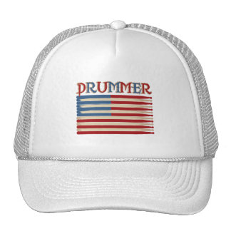 Drum Stick USA Flag Drummer Tees and Gifts Cap
