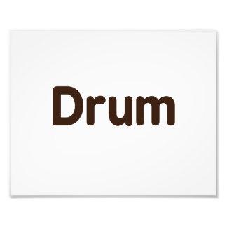 drum text brown music design photo print