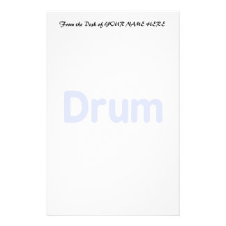 drum text cornflower music design stationery paper