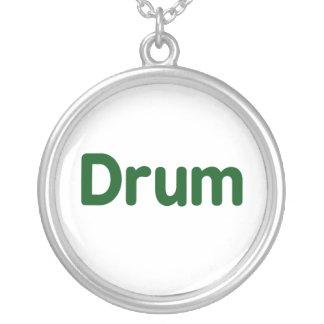 drum text green music design jewelry
