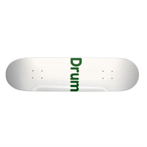 drum text green music design custom skate board