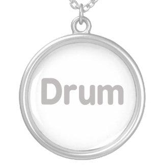 drum text grey music design pendants