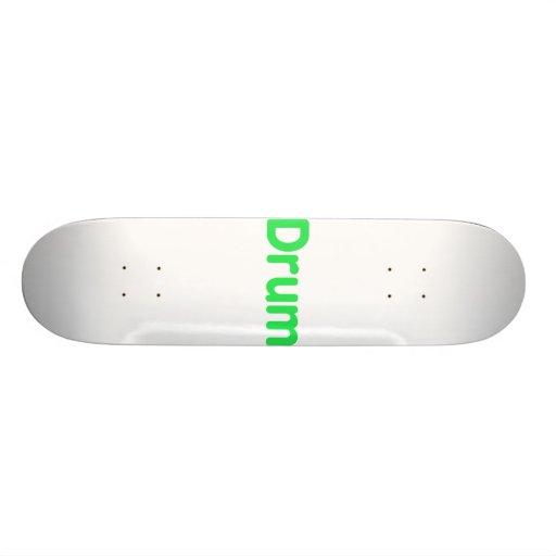 drum text mint music design skate boards