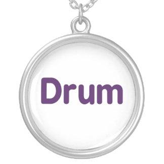 drum text purple music design custom jewelry