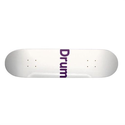drum text purple music design custom skateboard