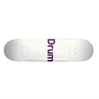 drum text purple music design skateboard deck