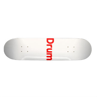 drum text red music design skate board